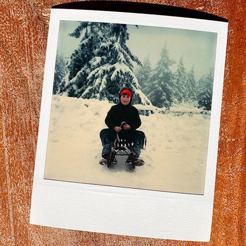altes Polaroid-Foto
