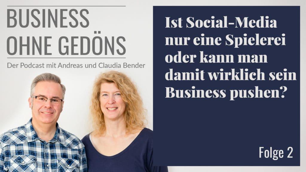 Business ohne Gedöns - Podcast-Cover Folge 002