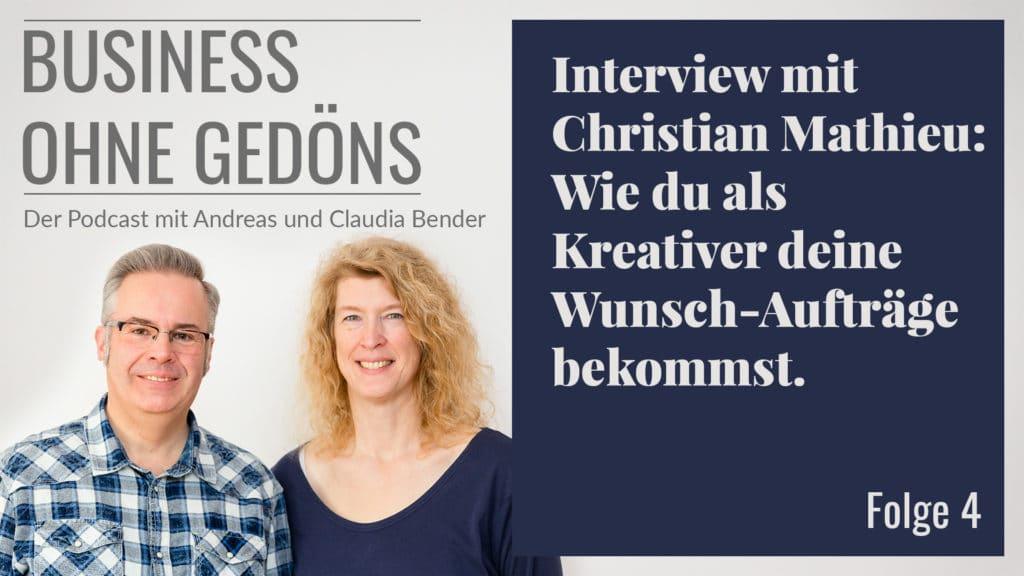 Business ohne Gedöns - Podcast-Cover Folge 004