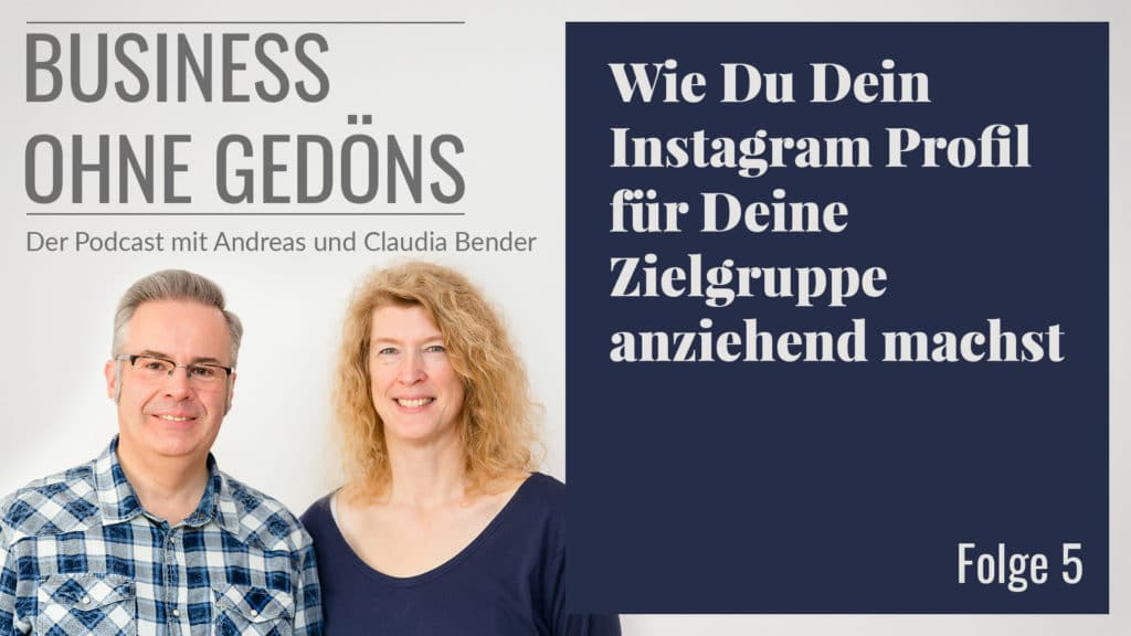 Business ohne Gedöns - Podcast-Cover Folge 005
